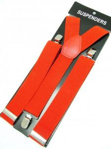 Red Braces 3 cm wide